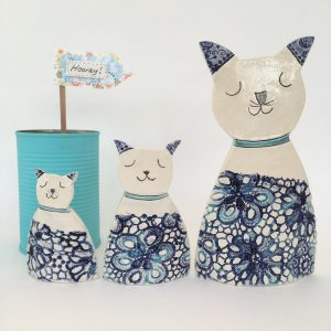 Ceramic Cats - Set of three