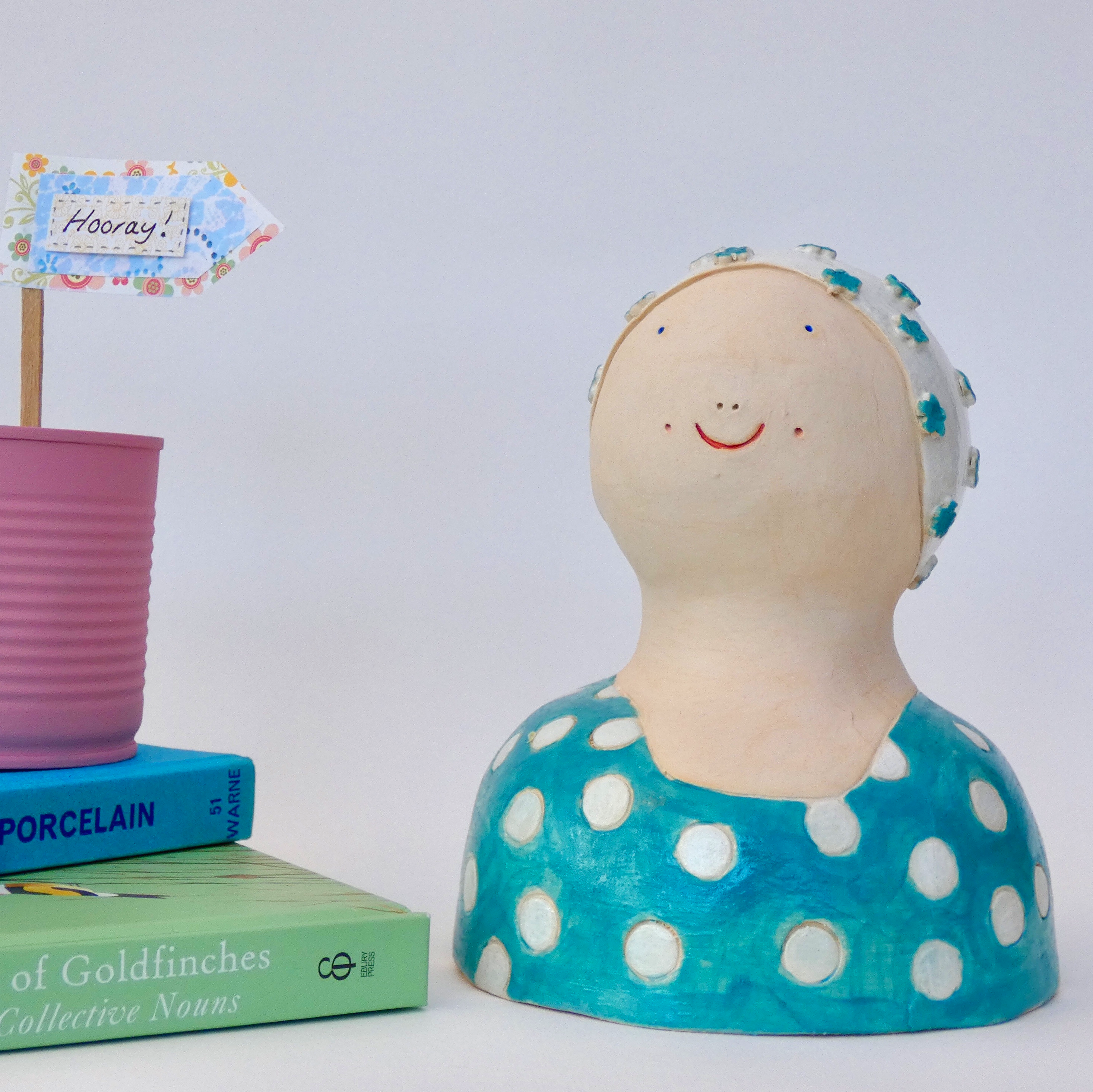 ceramic swimmer person character