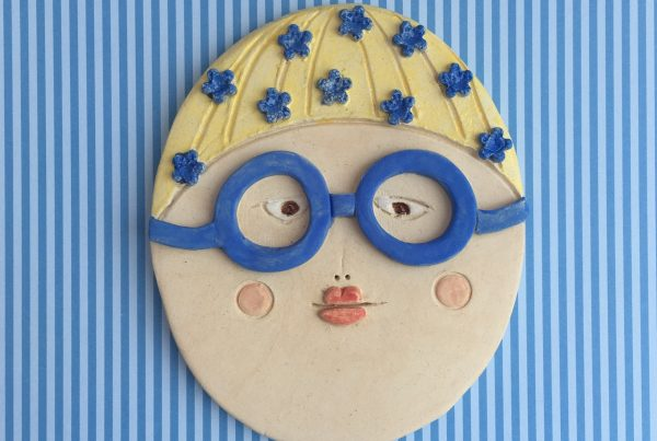 Ceramic swimmer, ceramic face
