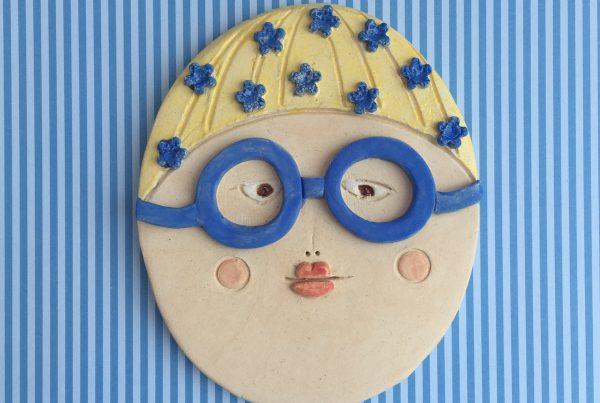 Ceramic swimmer, ceramic face