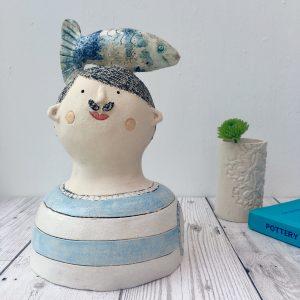 Ceramic man, ceramic bust