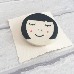 Ceramic Brooch, Ceramic Pin, Cool Pin